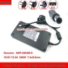 Véritable 240W 19.5V 12.3A ADP-240AB D Adaptateur secteur pour DELL LATITUDE X1 M17X M6500 M6600 M6700