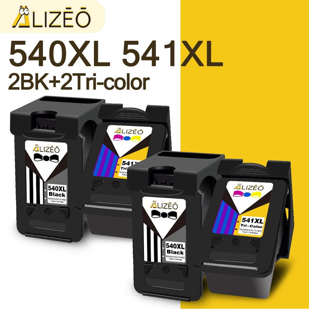 4 Pcs Compatible with For Canon PG 540 CL 541 Ink Cartridge For Canon Pixma Series MG3150 MG3250 MG3550 MG4250 MX375 MX395
