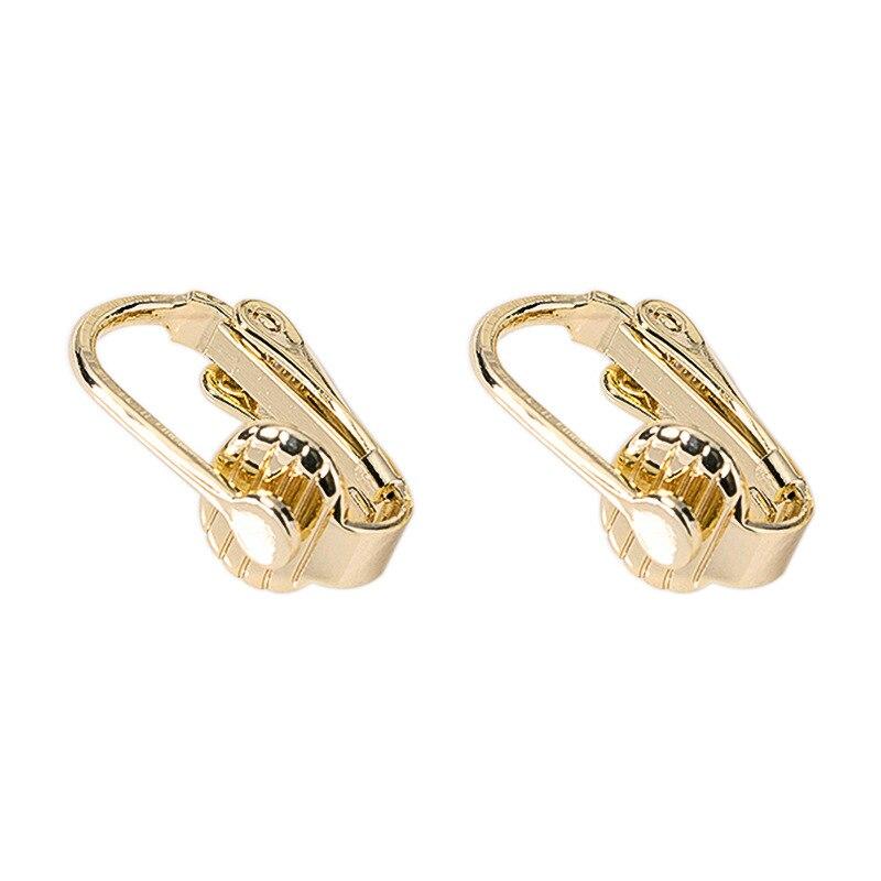 10 pçs 10*16mm 24 quilates ouro cor revestido brincos de bronze clipe diy jóias descobertas brincos acessórios atacado