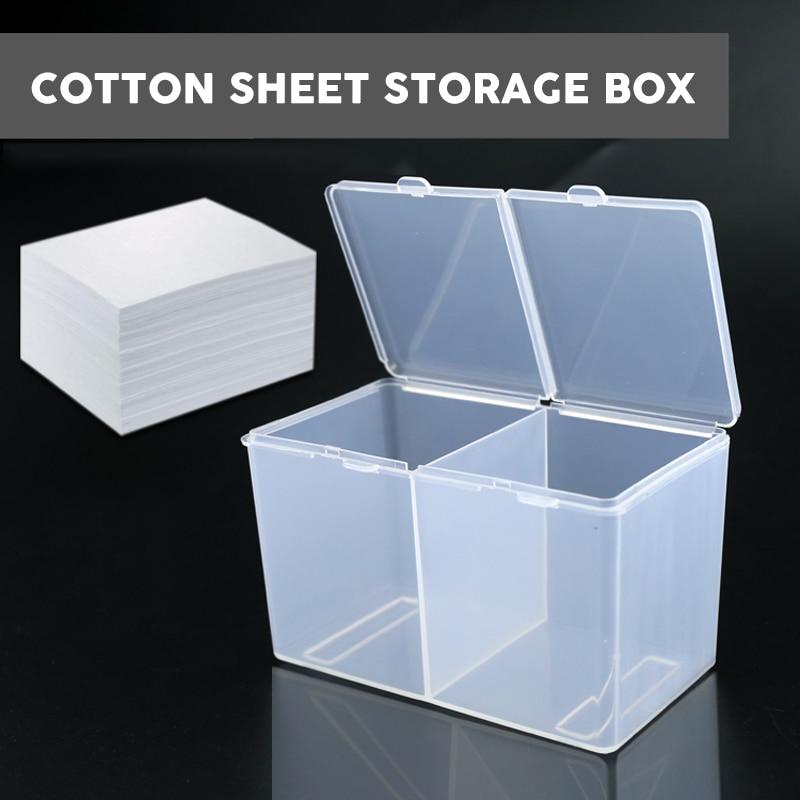 Caja de almacenamiento de doble rejilla de algodón transparente recipiente para algodones recipiente para bastoncillos accesorio de tatuaje