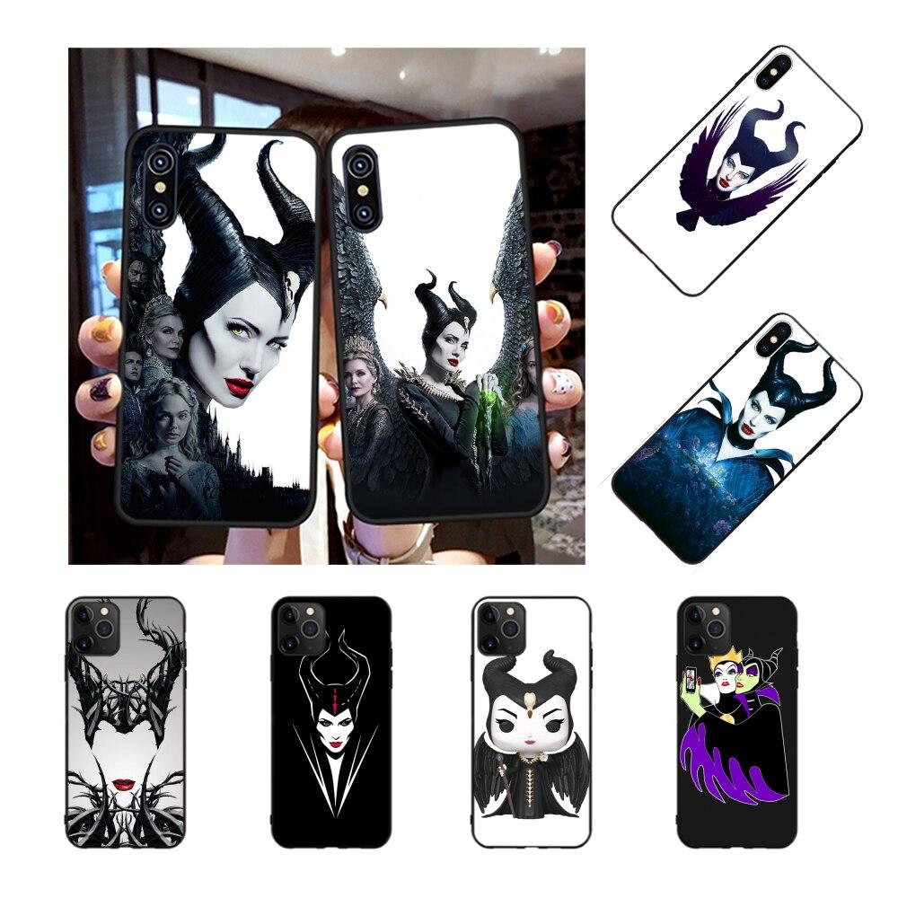 Nbdrucai Jamular 재미 있은 안젤리나 졸리 Maleficent 실리콘 전화 커버 아이폰 11 프로 XS 맥스 8 7 6 6S 플러스 X 5S SE XR 케이스
