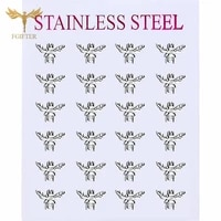 cute insect animal earrings bee small stud earrings steel color womens accessories fashion popular jewelry wholesale