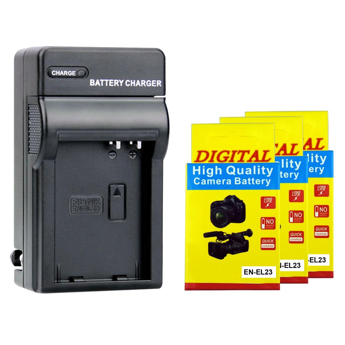 2000 мА/ч, литий-ионный аккумулятор EN-EL23 ENEL23 RU EL23 + Зарядное устройство для цифровой камеры Nikon Coolpix P600 PM159 P610S S810c P900S P900