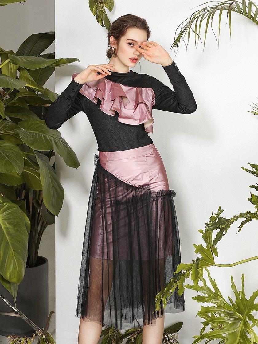 Women's Sexy Party Irregular Patchwork Skirt,Designer Style Skirt for Ladies