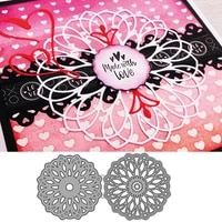 double layer hollow circle frame cutting dies diy mold paper metal craft dies for card making cut dies 2021 embossing new molds