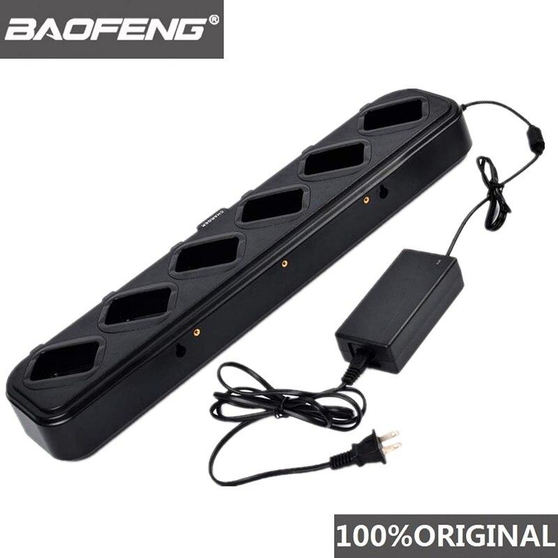 Baofeng UV 5R السداسية السرعة شاحن متعددة وحدة UV5R اتجاهين راديو محطة ل Pofung UV-5R BF-F8 UV-5RE DM-5R اسلكية تخاطب