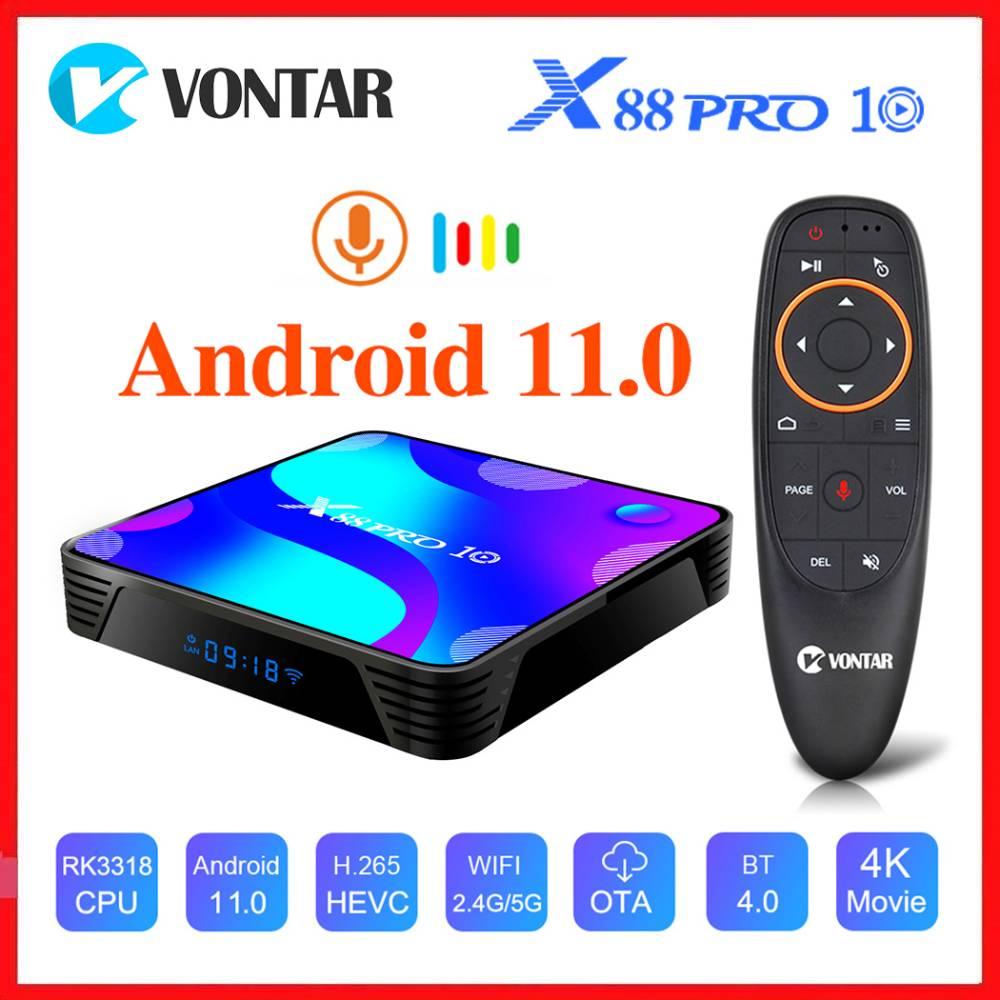أندرويد 10.0 مربع التلفزيون الذكية ماكس 4GB RAM 128GB ROM RK3318 BT4.0 TVBOX 5.8G المزدوج واي فاي أندرويد 10 مشغل الوسائط يوتيوب 4K مجموعة صندوق