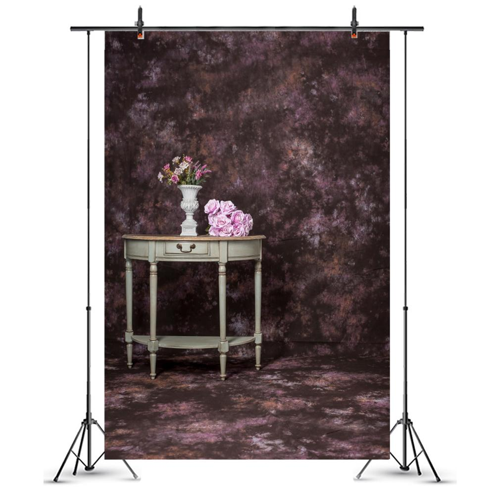 Vase Nightstand Decoration Vinyl Photography Background For Children Photo Studio Background Retro Brick Floor Wall Backdrops