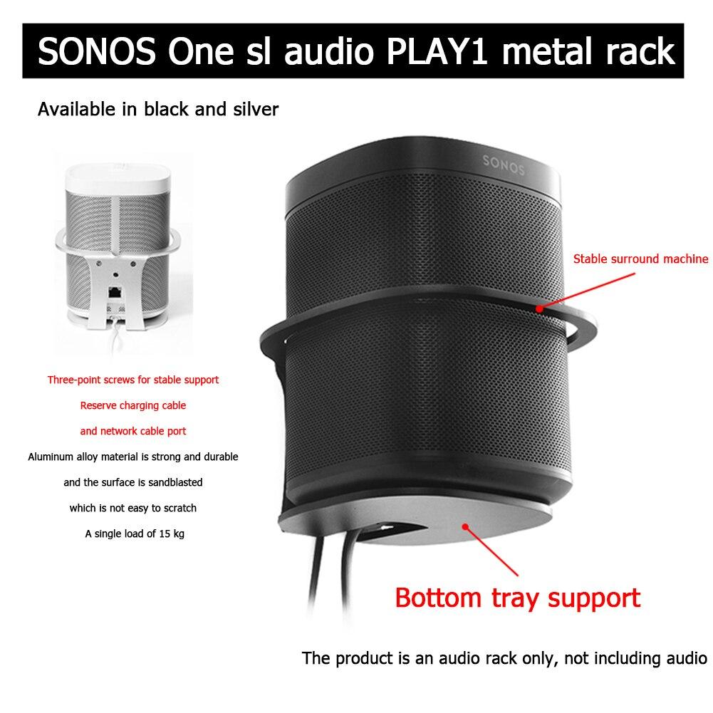 2020 New Wall Mount Compatible For Sonos One SL Play 1 Smart Speaker Sturdy Metal Made Mount Stand Holder Black/Sliver Color