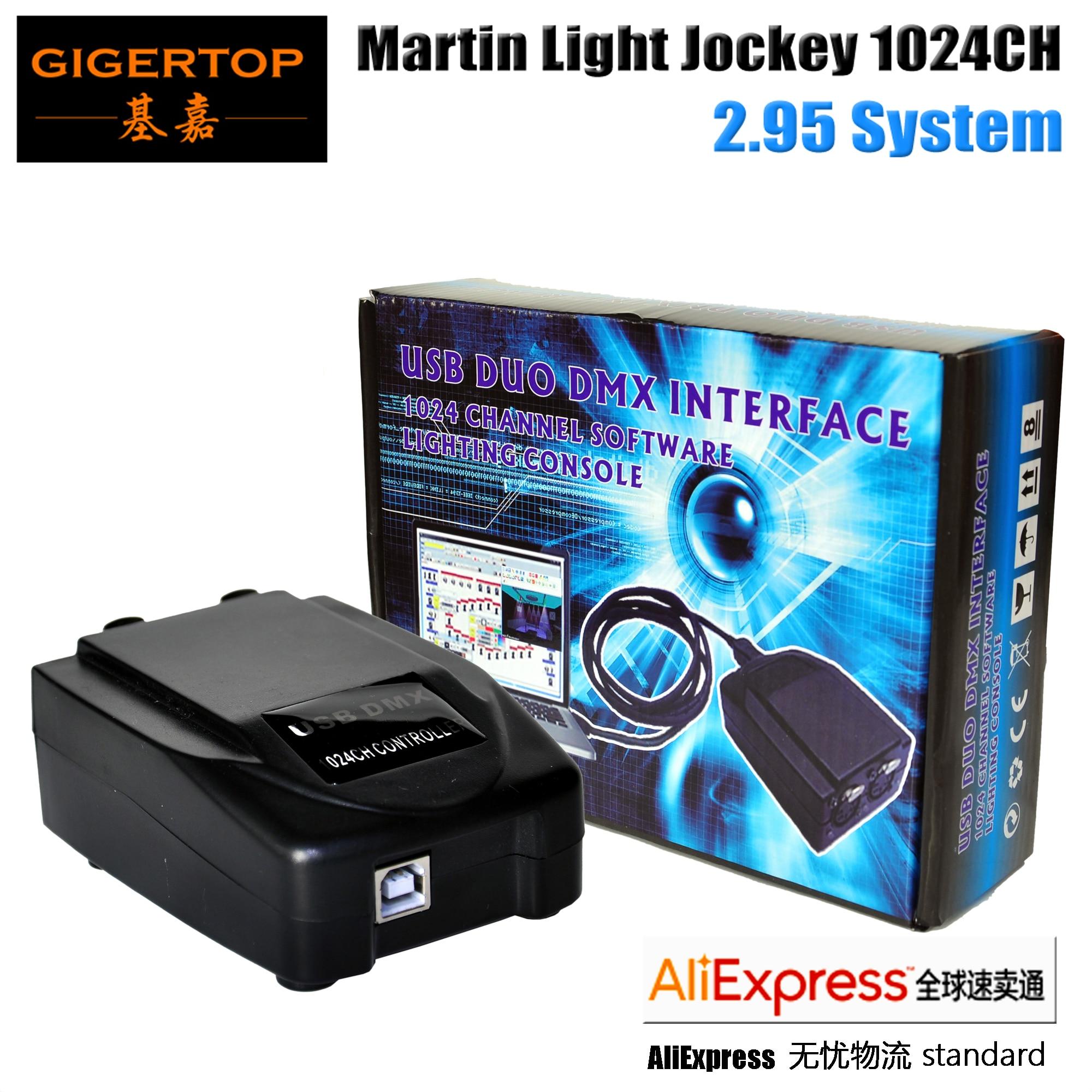 Orignal Martin Light Jockey USB 2.95 DMX Interface 1024 Channel Software USB DMX PC 3D Stage Lighting Controller Software
