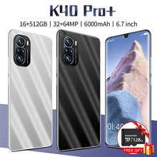 Глобальный K40Pro + 6,7 дюймовый Смартфон Snapdragon 888 16 Гб Оперативная память 512 ГБ Встроенная память 6000 мА/ч, Android11 32 + 64 Мп Deca Core, размер экрана Процес...