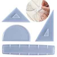 ruler resin silicone mold protractor triangle ruler right angle ruler diy craft jewelry making tools resin casting molds