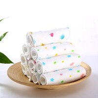 10Pcs Print Star Deer Inserts For Baby Cloth Diaper Nappies Reusable Cloth Nappy Washable Inserts Liners For Diaper Pocket