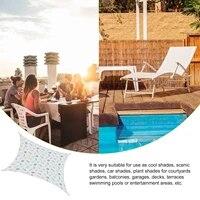 outdoor sunshade sail uv block awning cover for patio garden portable durable canopy for patio garden camping beach picnic