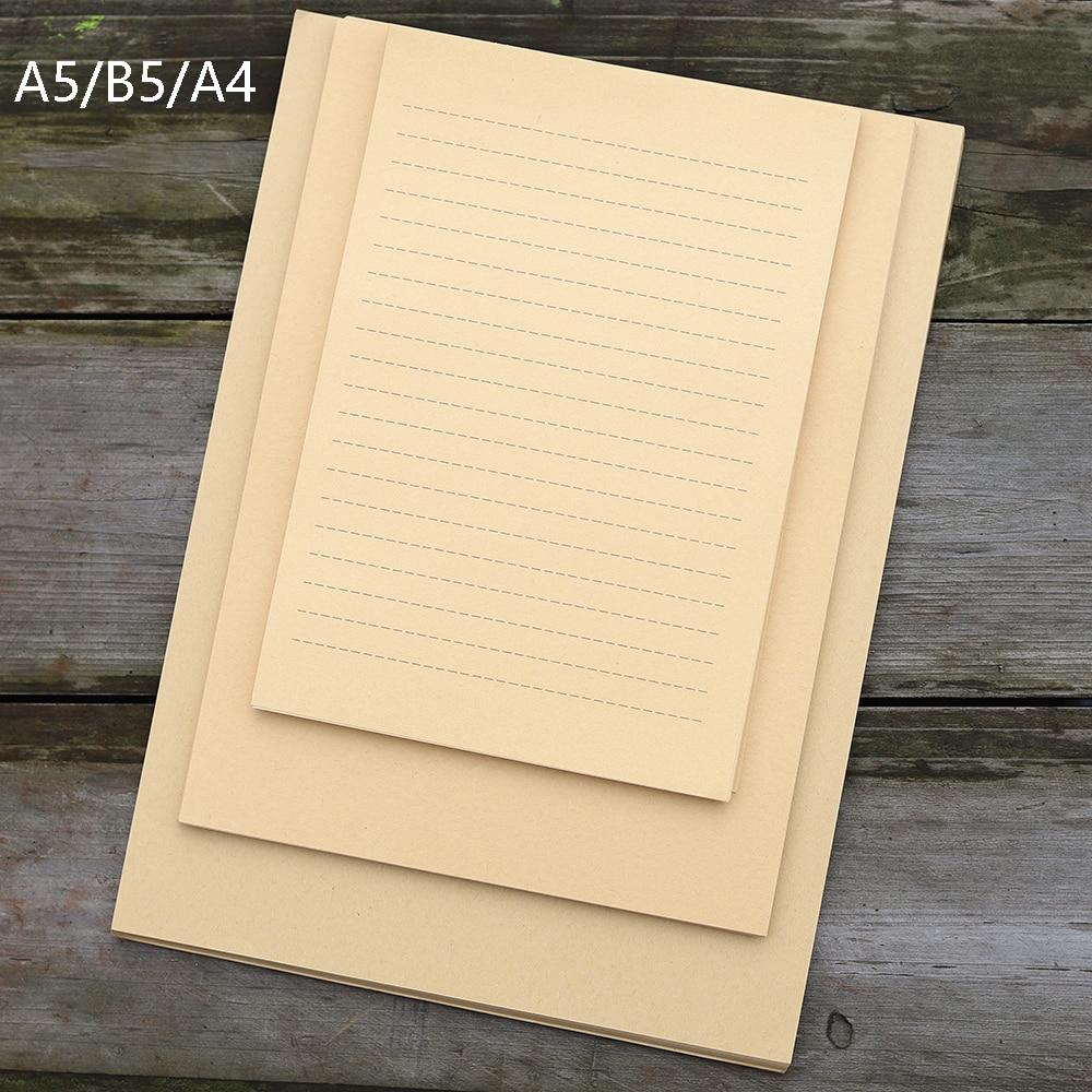 50 листов A5/B5/A4 ретро крафт-бумага для вечевечерние массажное письмо канцелярские принадлежности винтажная бумага для заметок крафт-бумага ...