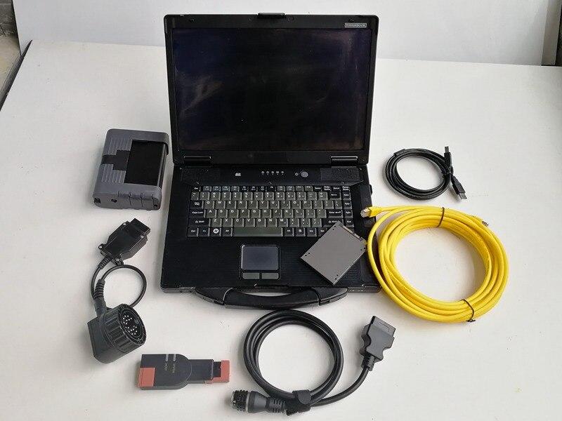 Para bmw icom 2 com portátil cf52 ram 4g carro computador de diagnóstico com software ista modo especialista 720gb ssd windows 7 pronto para usar