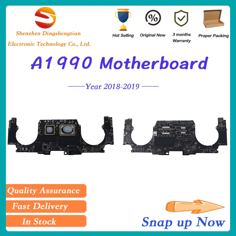 Original Motherboard For Macbook Pro Retina A1990 Logic Board With Touch ID I7 I9 16G 256G 500G 2018-2019 Year EMC 3215 3359