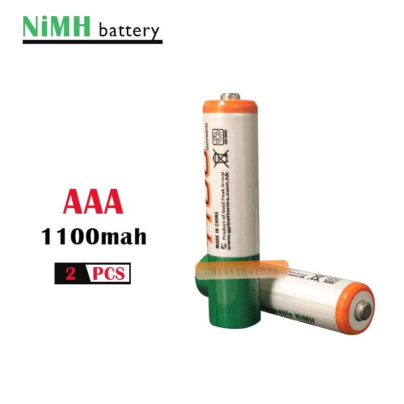 ¡2 unids/lote original AAA de 1,2 V Ni-MH 1100mah batería recargable + envío GRATUITO!