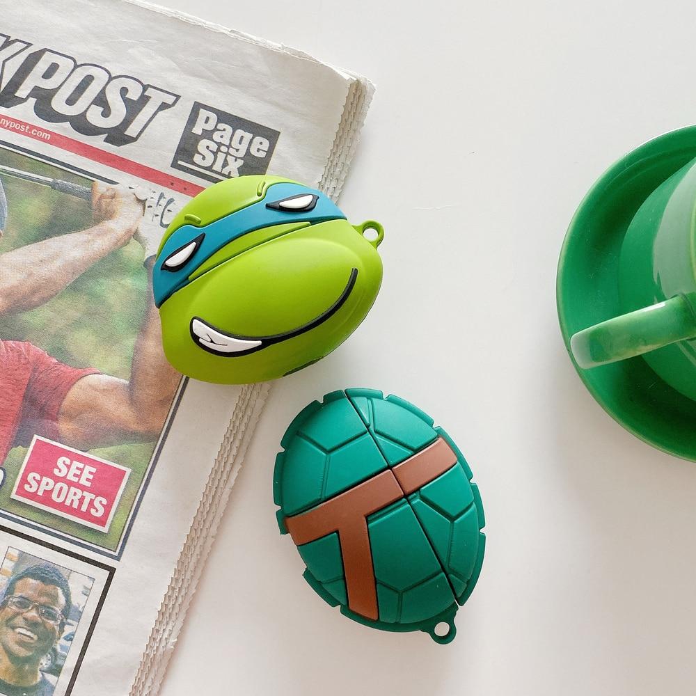 Чехол для наушников AirPods 3 Cool Ninja turtles для AirPods Pro, bluetooth-гарнитура, 3D Мягкий силиконовый чехол, чехлы с принтом из мультфильма с крючком