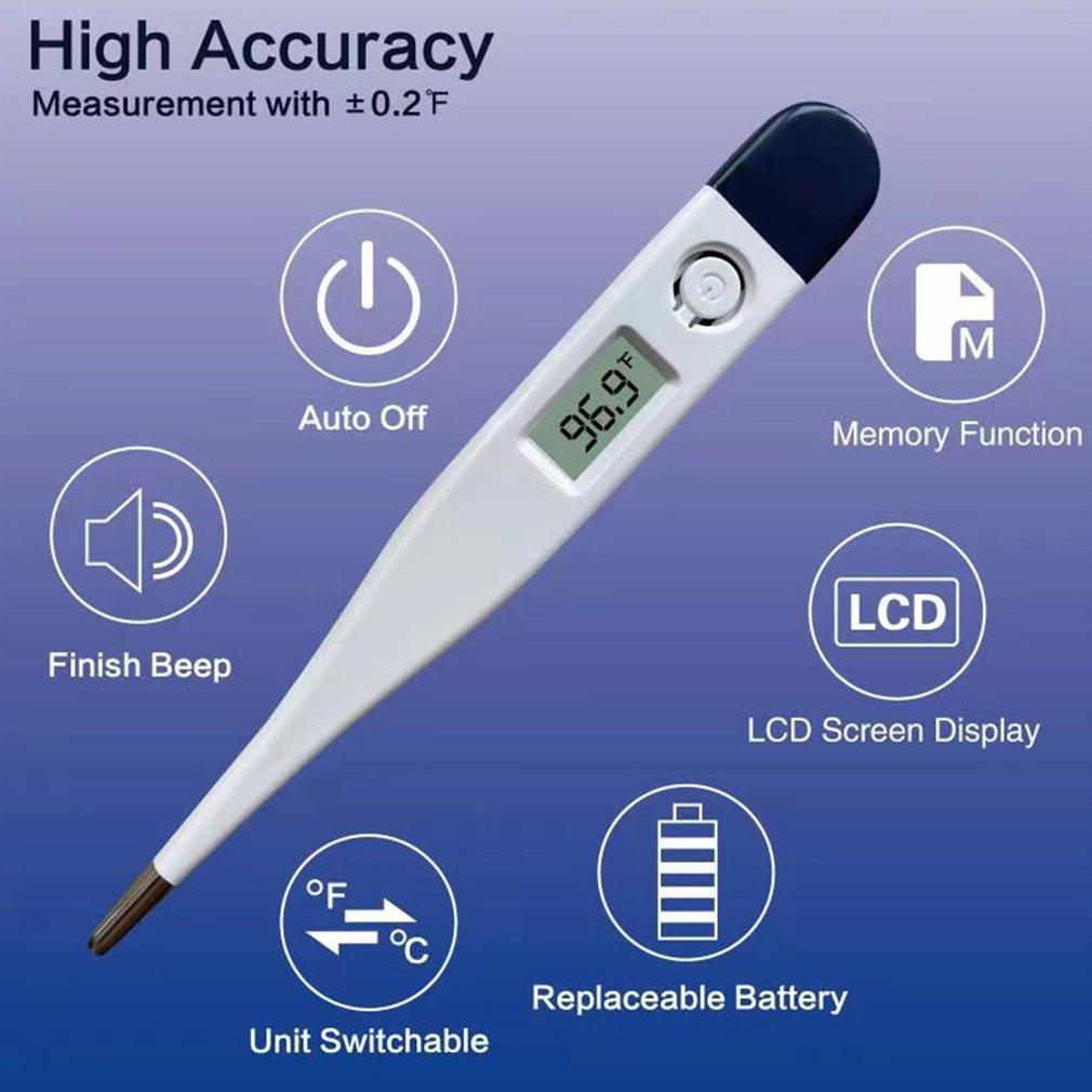 Медицинский термометр, регулируемый цифровой дисплей, высокая точность температуры тела для младенцев и взрослых