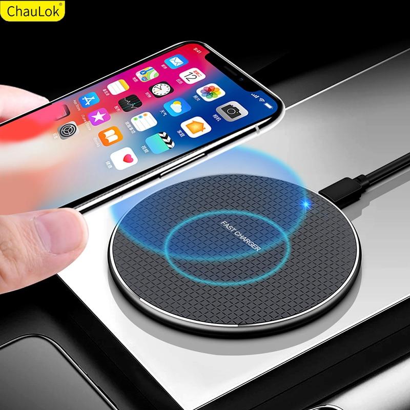 Cargador inalámbrico Qi para Samsung Galaxy S20, Ultra S10, S9, S8 Plus, note 10 Plus, 5G, Qi, alfombrilla de carga rápida para cargador inalámbrico Samsung