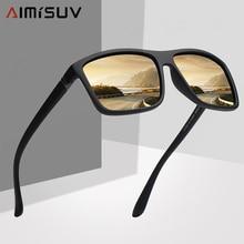 AIMISUV lunettes de soleil carrées polarisées   Lunettes de soleil de marque Vintage pour la conduite, lunettes de protection des yeux pour le conducteur, lunettes UV400