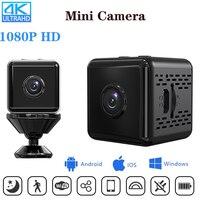 Мини-камера HD 1080P/4K с датчиком Wi-Fi и аккумулятором на 1000 мА · ч