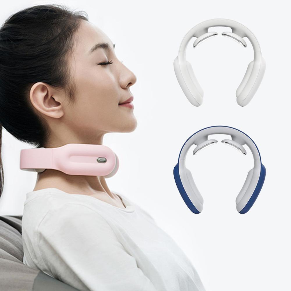 Masajeador de cuello de hombro inteligente de 3 colores PGG cuidado caliente silencio 15 modos masajeador ajustable Control remoto masajeador de cuello
