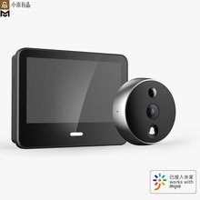 Youpin Xiaomo Smart Video Doorbell Cat Eye HD Night Vision Face Detector Two Way Intercom Audio LCD Display Work With Mijia App
