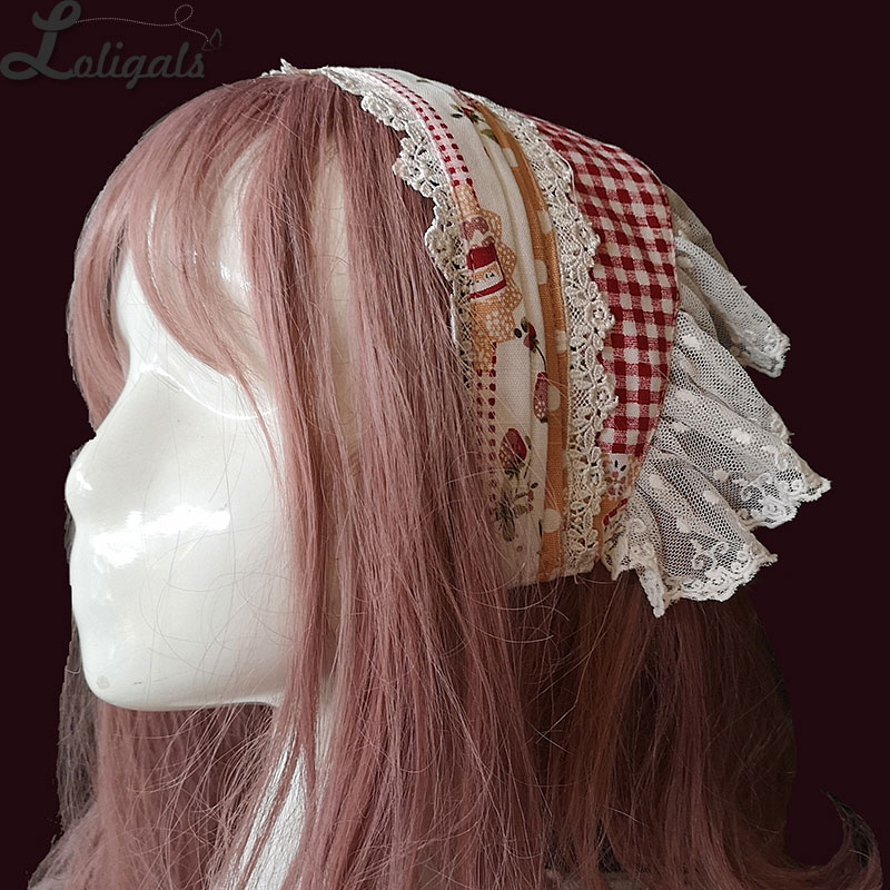 Strawberry & Plaid ~ Sweet Lolita Hairband by Infanta