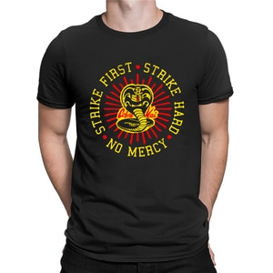 Karate Kid T Shirt Cobra Kai Strike First Strike Hard No Mercy Tee Sweeping Legs Since 84 Graphic T-Shirt Men Women Unisex Tops