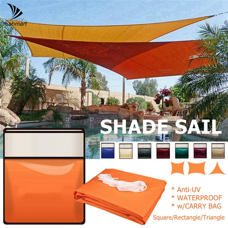 Square Gray Beige Sun Shade Sail Canopy 98%UV Block Awning for Outdoor Patio Garden Backyard