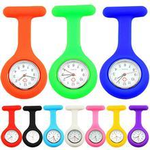 Cute Silicone Nurse Watch Pocket watches Brooch Fob Pocket Tunic Quartz Movement Watch Reloj de rega