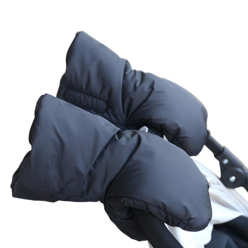 1 par de guantes de cochecito de vellón para invierno acoplador cochecito de mano Muff cochecito de niños guantes de mano accesorio para carro