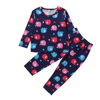 baby boy girl clothing set kids elephant print tops pants set baby girl pullover casual outfits winter spring children pajamas