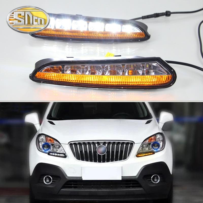 SNCN светодиодные дневные ходовые огни для Opel Mokka 2012 2013 2014 2015, автомобильные аксессуары, водонепроницаемые ABS 12 в ДХО противотуманные фары, укр...