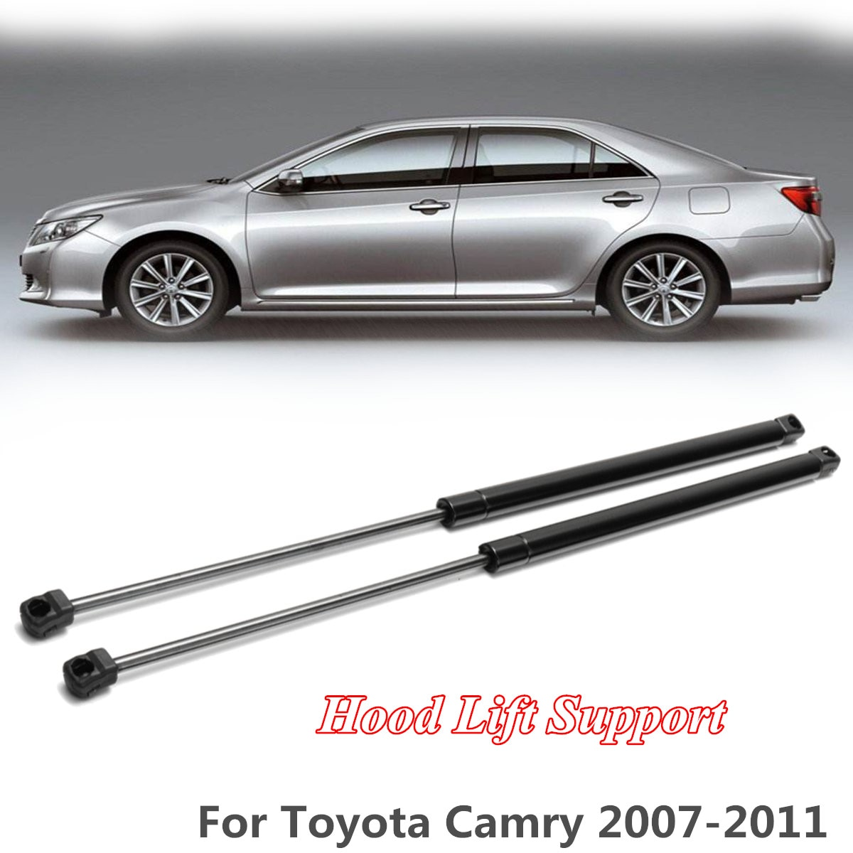 2x frente capa gás elevador apoio choque strut barras amortecedor barra de apoio braço 29024 para toyota camry 2007 2008 2009 2010 2011