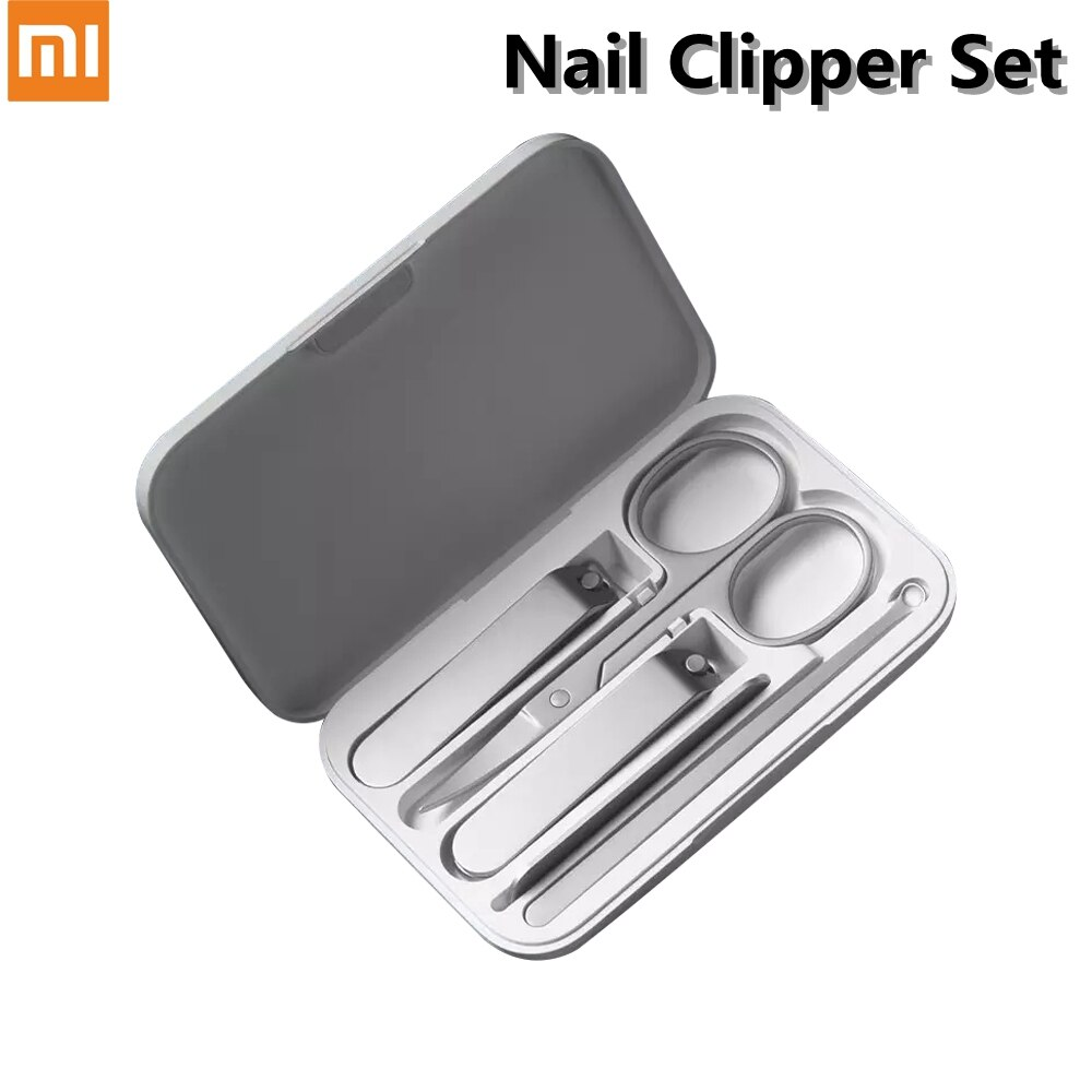 Xiaomi Mijia Nail Clipper Set Trimmer Pedicure 5 in 1 Portable Travel Hygiene Kit Stainless Steel Na
