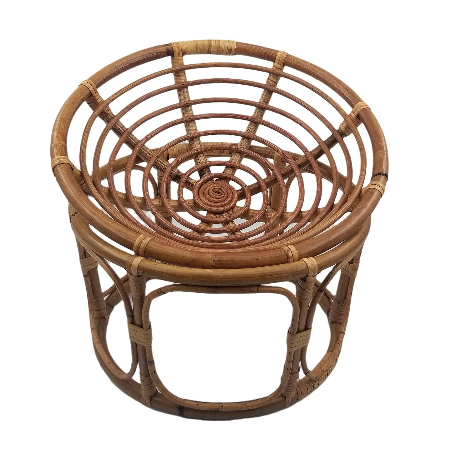 Newborn Photography Props Retro Handmade Rattan Chair Basket Cribs Newborn Photo Shoot Posing Props Photo Studio Accessories