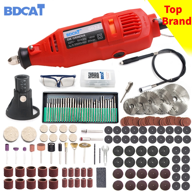 220V Home Diy Power Tools Electric Dremel Mini Drill with 0.3-3.2mm Universal Chuck & Shiled Rotary Tools Set For Dremel Tool