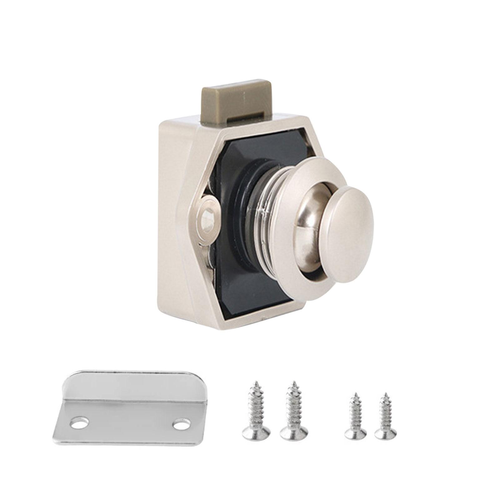 1pc 20mm Camper Car Push Lock RV Caravan Boat Motor Home Cabinet Drawer Latch Button Locks For RV Furniture Hardware Expert