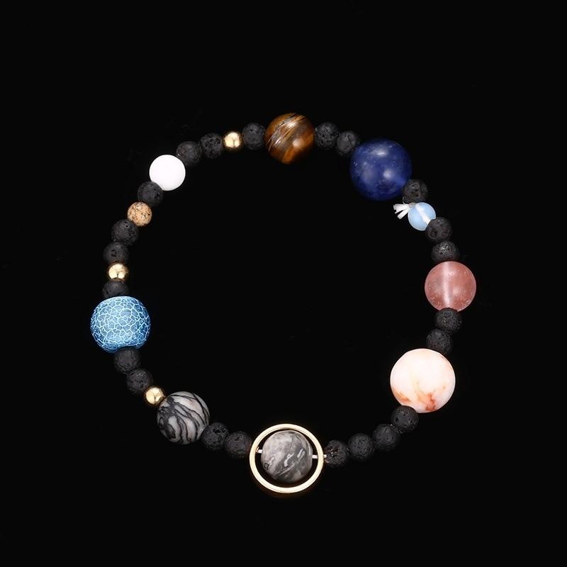 MIDY Jewelry 2020 браслет на солнечной системе, браслет из натурального камня с восьмипланетным камнем, женские и мужские браслеты, подарок, Прямая ...