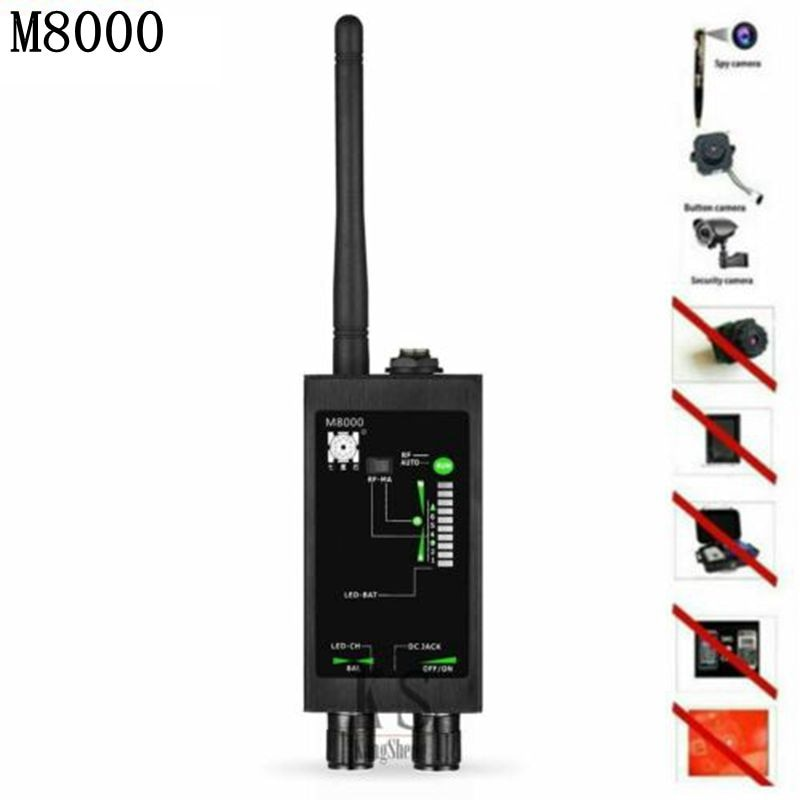 M8000 automatic Signal Detector Wireless RF Signal Detector Anti-spy Candid Camera GSM GPS Scan Finder Magnetic Antenna Detect enlarge