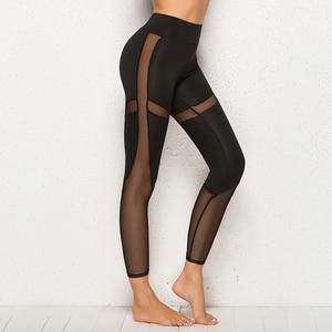 Black Mesh Leggings Women Pant High Waist Legging Fitness Push Up Gym Leggings Hiking Jogging Leggins Women Trouser Jeggings