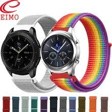 Galaxy pulseiras de relógio para samsung galaxy relógio 46mm 42mm ativo 2 engrenagem s3/huawei relógio gt 2 cinta 20 22mm esporte banda de laço de náilon