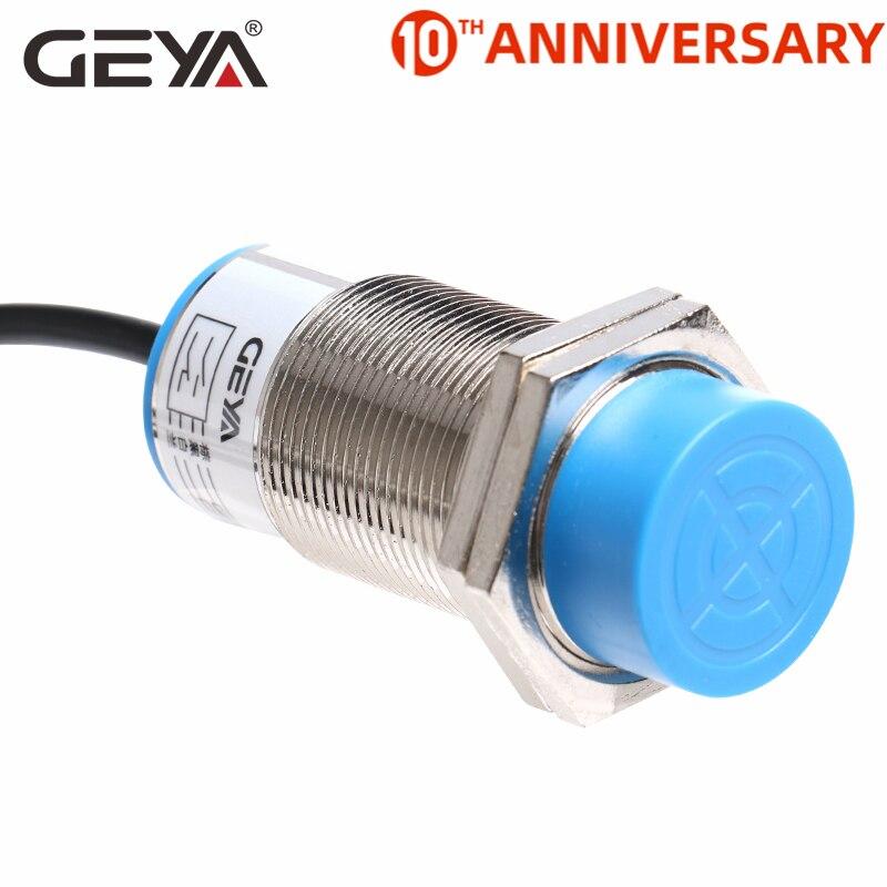 GEYA 15 мм датчик расстояния Бесконтактный переключатель NPN PNP Постоянный ток 10-30 в датчик приближения DC 2 провода 3 провода 4 провода без NC M30Screw Р...