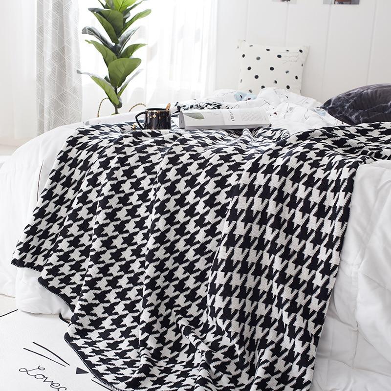 القطن دثار محبوك الشمال القطن بطانية هندسية الترفيه غطاء بطانية بطانية تكييف الهواء بطانية أريكة بطانية