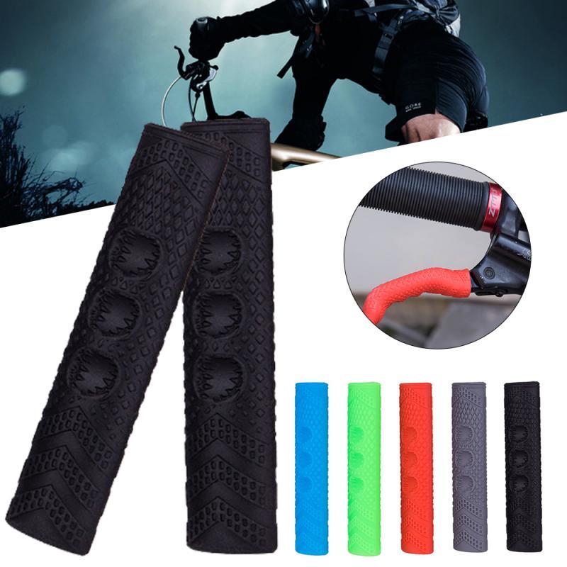 Cubierta protectora de silicona antideslizante para manillar de bicicleta, 1 par, para freno de bicicleta de montaña