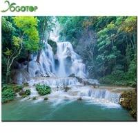 diy diamond painting kit waterfall 5d full mosaic diamond embroidery sale wall stickers unfinished art natural scenery yy2078