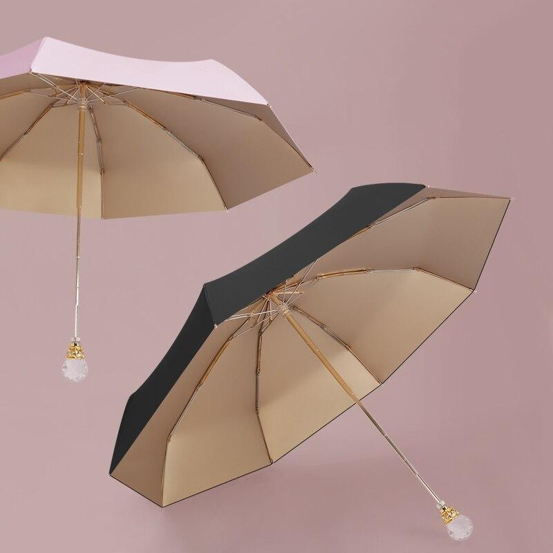 Noble Sun Umbrella Women's Small Sun Protection UV Protection Sun Protection Summer Rain Dual-Use Portable 50% off Solid Color enlarge